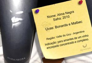 Um vinho argentino excelente - Alma Negra 2010