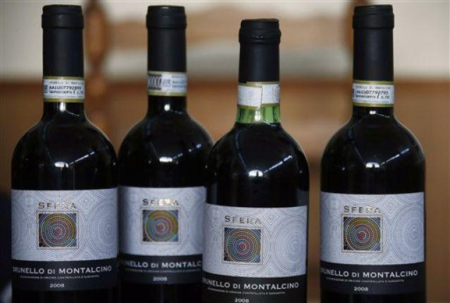 Apreensão de vinhos falsos na Itália