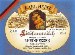 Liebfraumilch e vinho alemão