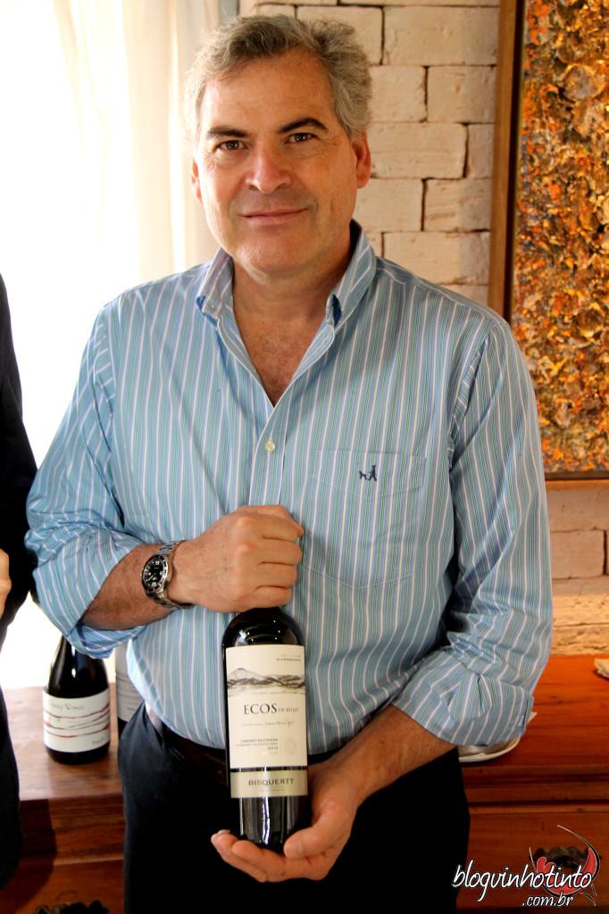 """""""Menos é mais"""", ensina o CEO da vinícola Bisquertt, Sebastián Bisquertt"""