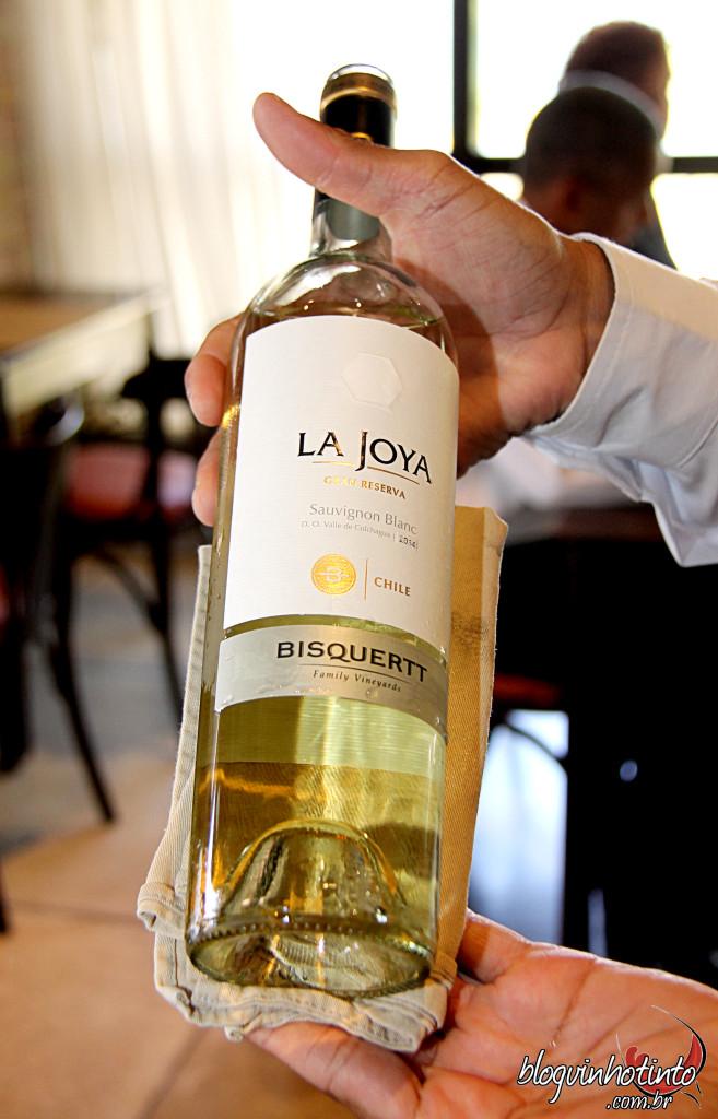 La Joya Sauvignon Blanc 2014 - Boa acidez, bom equilíbrio, muito fresco e ausência de notas herbáceas marcantes.