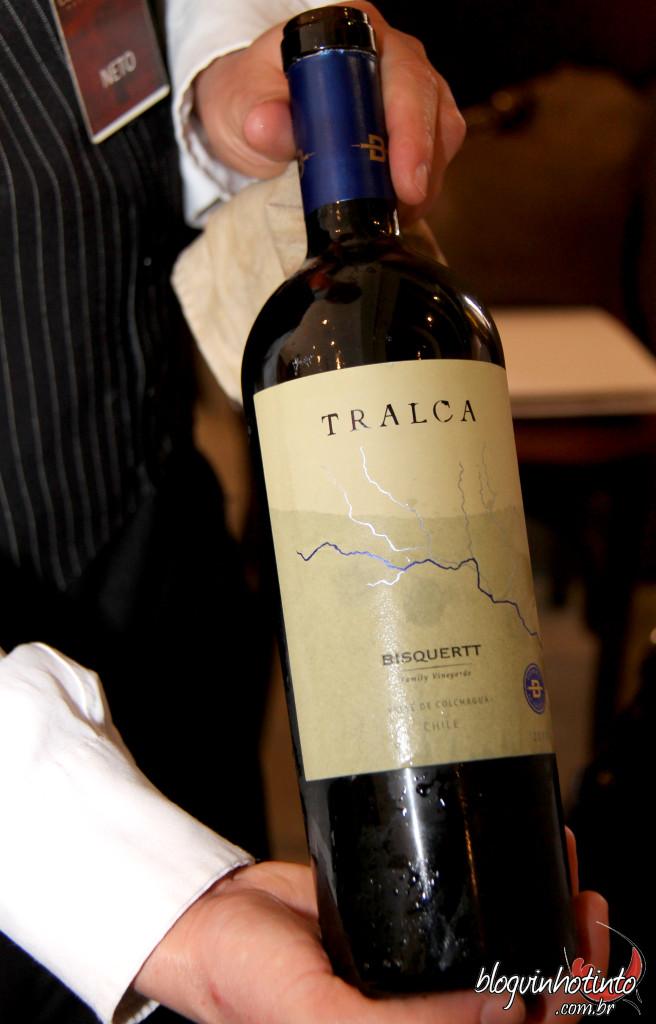 Tralca 2010 – Vinho Top da Bisquertt – Acredito que a consultoria de Antonini deixará este vinho ainda mais elegante daqui pra frente