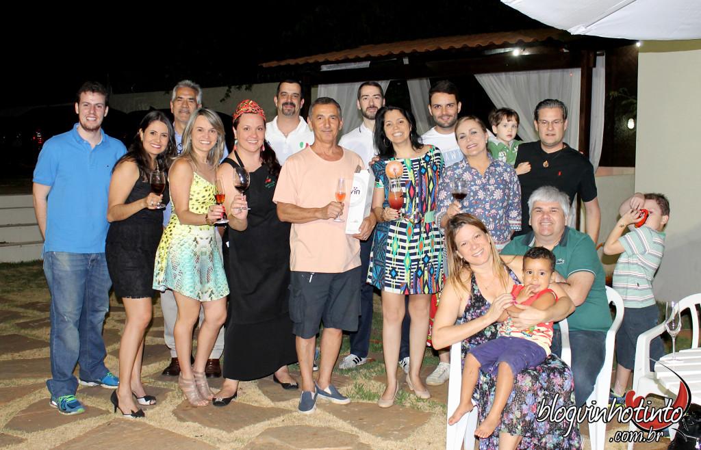 O segundo encontro foi realizado na casa de Rachel Alves, presidente da Confraria Amigas do Vinho (Seção DF): noite agradável.