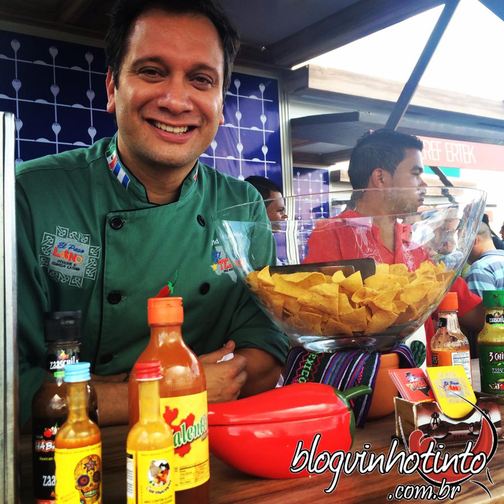Renomados Chefs preparam os pratos e marcaram presença no evento, como David Lechtig, do El Paso Texas