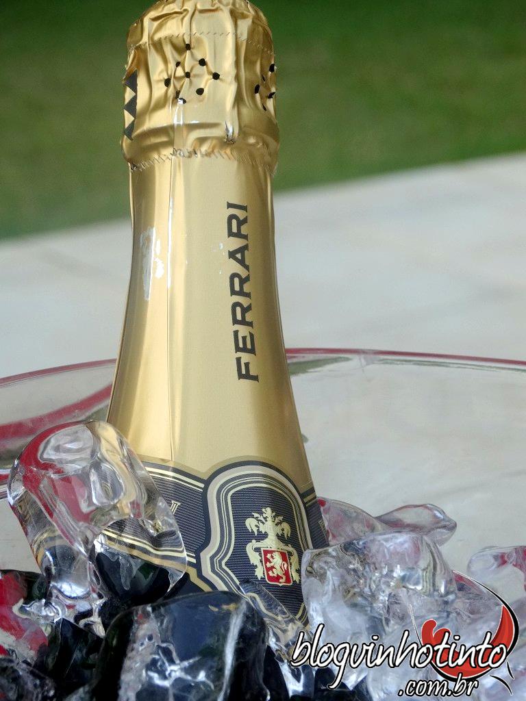 O espumante Ferrari, um dos melhores do mundo, também poderá ser degustado durante o evento