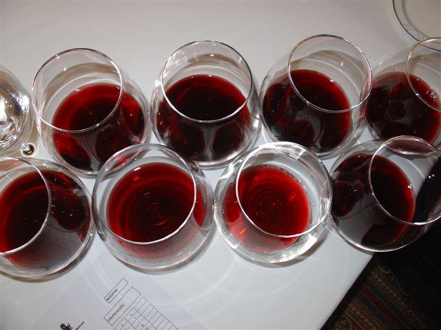 Na degustação horizontal, os vinhos são da mesma safra, mas de produtores diferentes.