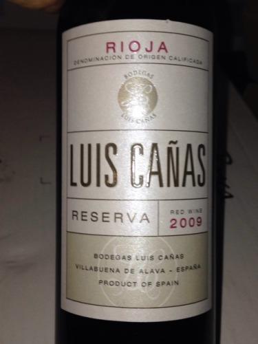 Luis Canas Reserva 2009 - O melhor da noite.