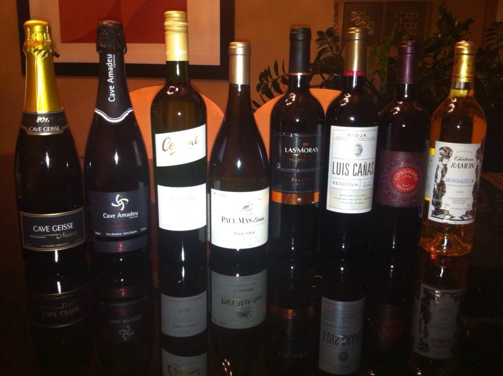 Vinhos degustados durante o evento de confraternização da Terroir. Ano que vem tem mais!!!!