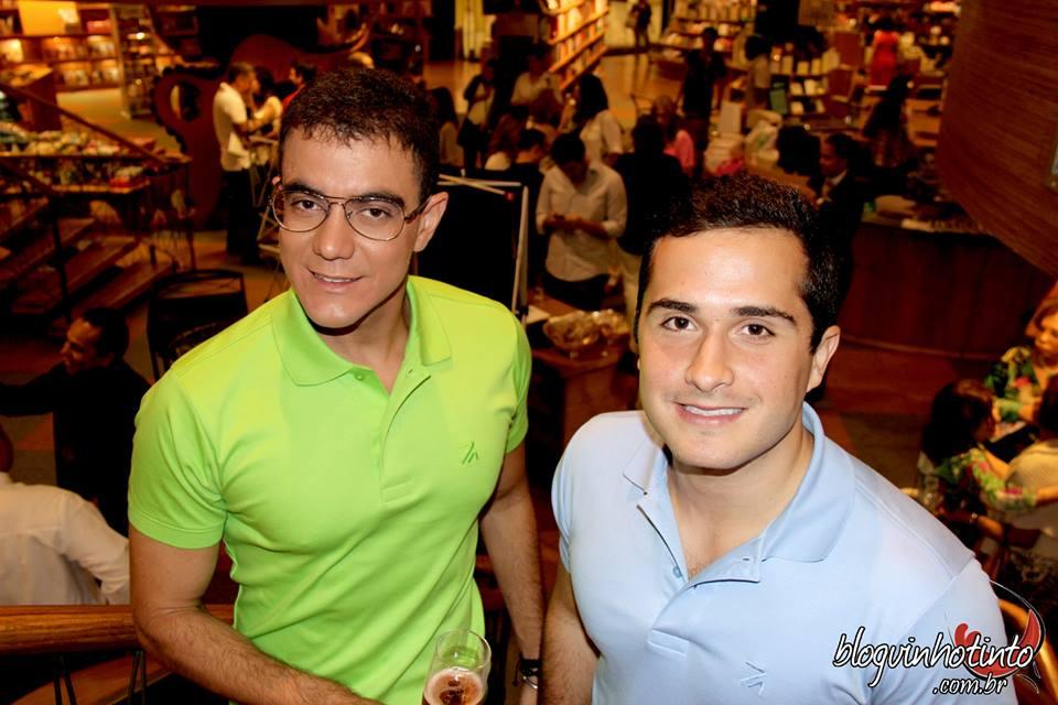 Os empresários Tiago Corrêa e Guto Jabour - idealizadores do evento