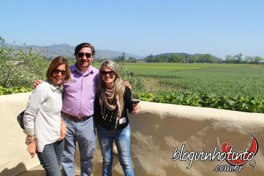 Visita finalizada com uma linda vista do terraço da vinícola.