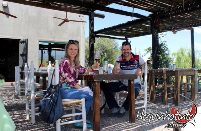 O almoço aconteceu no restaurante da Bodega, um dos melhores da região
