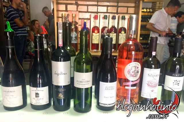 Oito vinhos premiados foram degustados durante o evento.