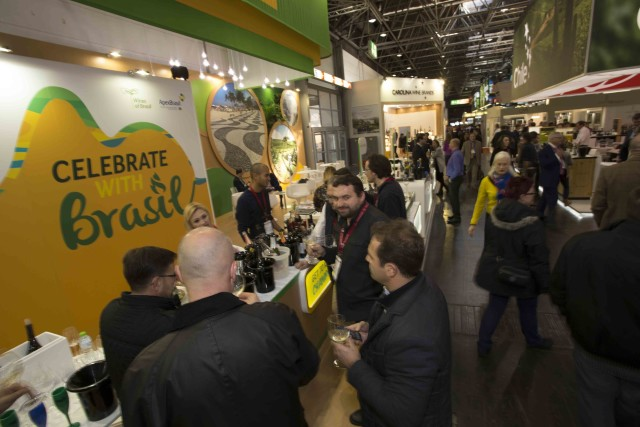 Estande do Wines of Brasil na ProWein 2016 - Foto André Bezerra