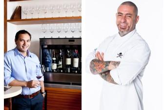 O sommelier Dionísio Chaves e o chef Henrique Fogaça participam de evento do Brasília Shopping