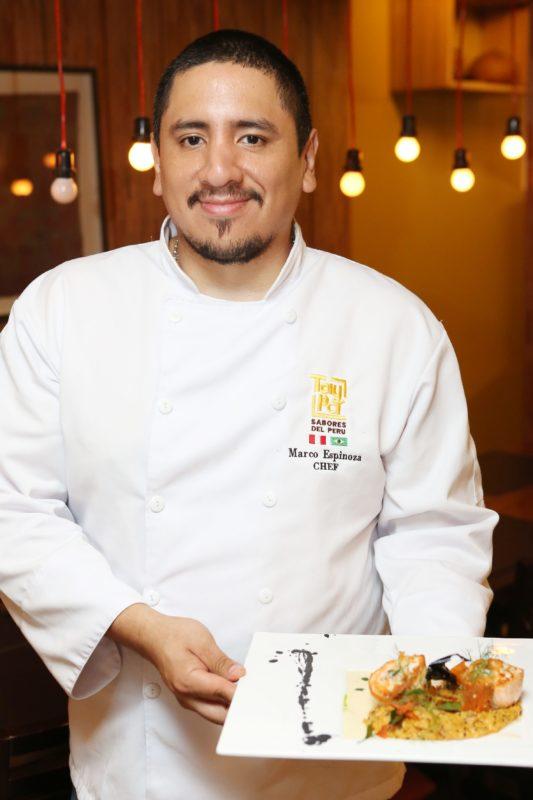 Chef Marco Espinoza. Foto: Fabrício Rodrigues
