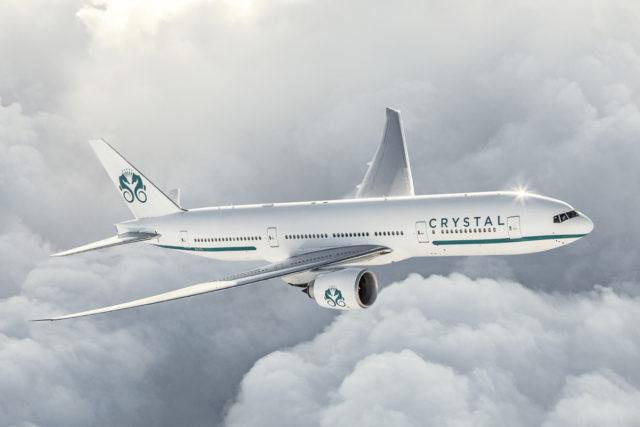 Crystal Boeing 777 - Agora a jornada enófila não é mais de navio, mas de avião