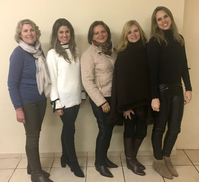 Mônica Mercio, Victoria Zara Mercio, Clori Peruzzo, Hortencia Ravache Ayub e Gabriela Hermann Pötter compõem a diretoria executiva da entidade para biênio 2018-2019