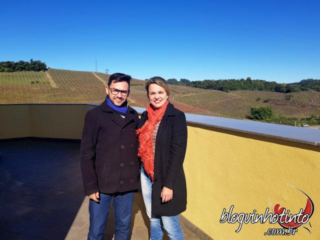 Eu e Roginaldo Goularte, da Divisão de Enoturismo da Miolo
