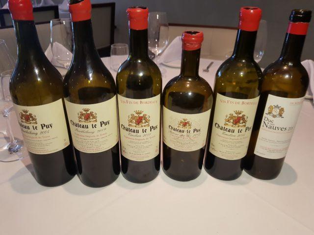Vinhos da Chatêau Le Puy produzidos observando