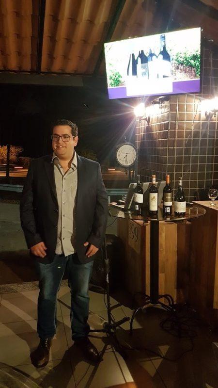 Sommelier Frederico Benjamin, melhor sommelier de vinhos do Alentejo no Brasil 2018