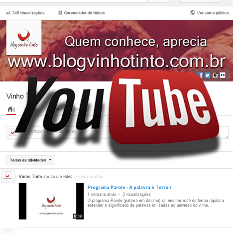 Blog Vinho Tinto no Youtube