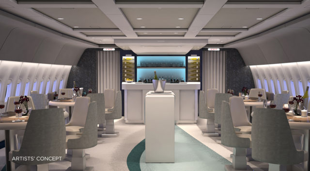 """Interior do 777 que será usado na """"jornada enófila"""" (Divulgação)"""