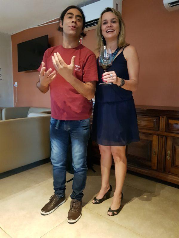 Eu e o sommelier chileno Alex Ordenes, um dos idealizadores do projeto WineChef