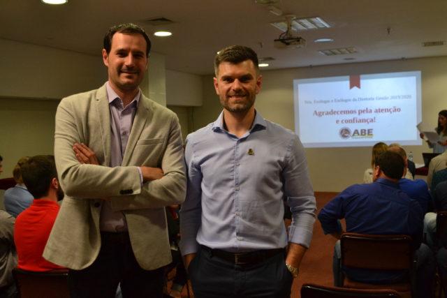 Edegard Scortegagna, atual presidente da ABE, e Daniel Salvador, presidente eleito para 2019/2020