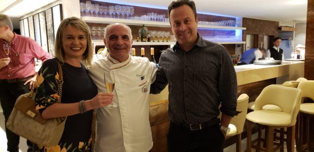 Etiene Carvalho (BVT), o Chef Rosário Tessier (Trattoria da Rosário) e Santiago Tamer, da Trilix Distribuidora