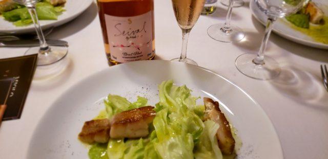 Peixe Marinado com espumante Seival By Miolo Brut Rosé