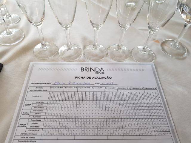 Ficha de Avaliação do Prêmio Brinda Brasil 2019, baseada em concursos da OIV
