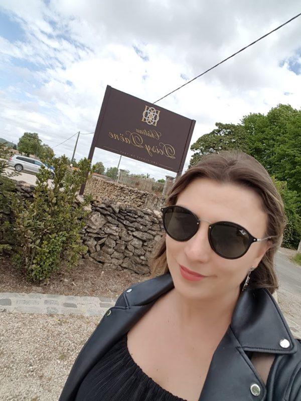 Bianca Dumas (Blog Vinho TInto) no Château Doisy Daene