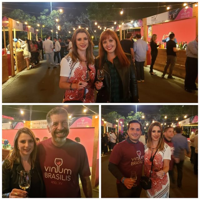 Bianca Dumas (Blog Vinho Tinto), Caroline Mendes, Petrus Elesbão e Guto Jabour (organizadores da Vinum Brasilis)
