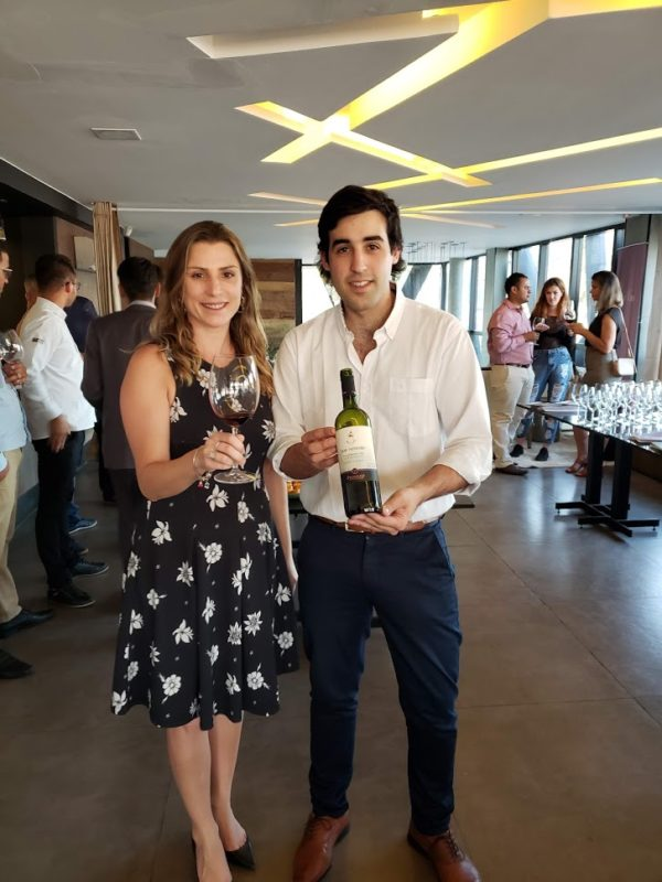 Bianca Dumas (Blog Vinho Tinto) e  Francisco Pizzorno