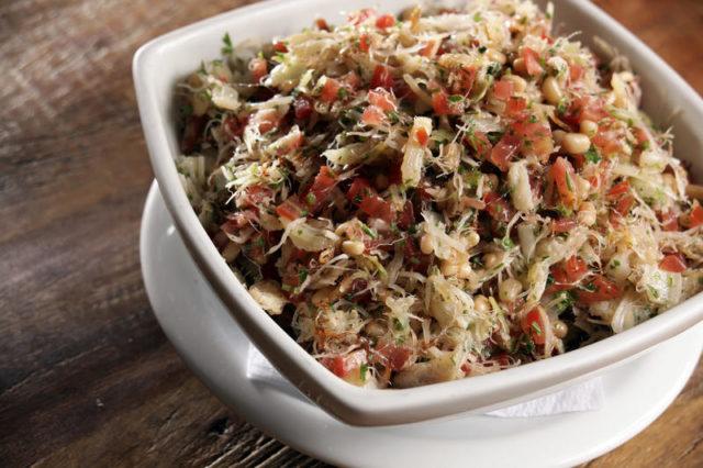Salada de Bacalhau com feijão