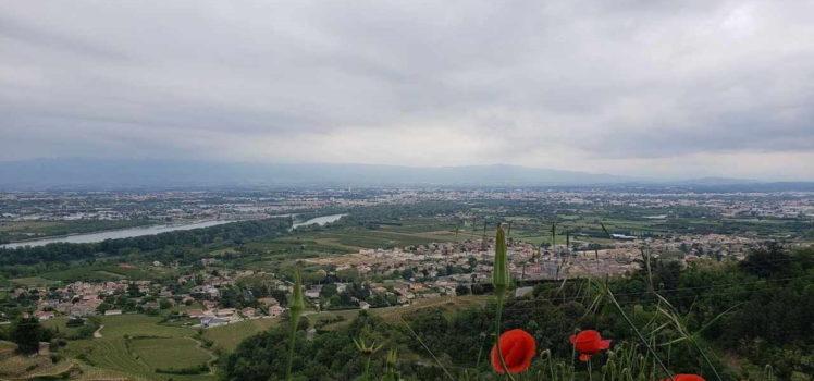Vista das encostas do Vale do Rhône