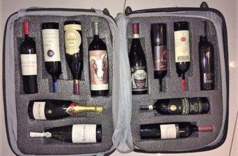 Vinhos na mala
