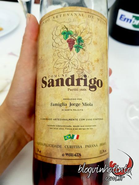 Vinho produzido pelo colega Jorge Miola