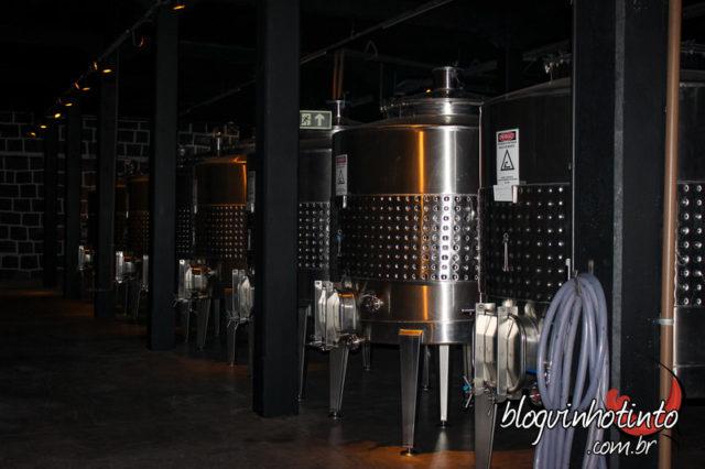 Sala de vinificação