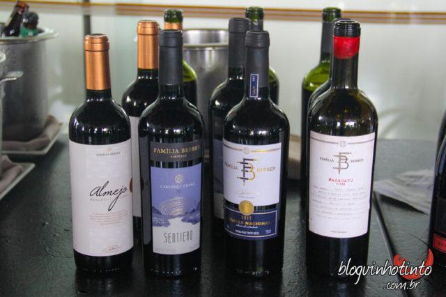 Vinhos da vinícola Bebber