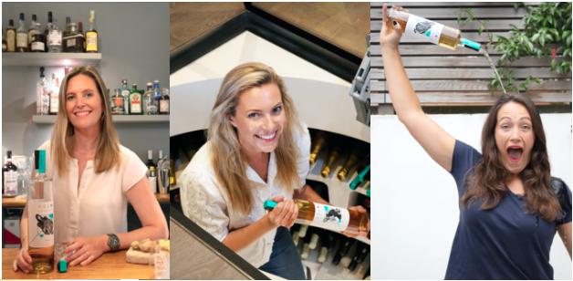 As criadoras da marca Beanie Geraedts-Espey, Alexa Davies e Polly Aylwin-Foster