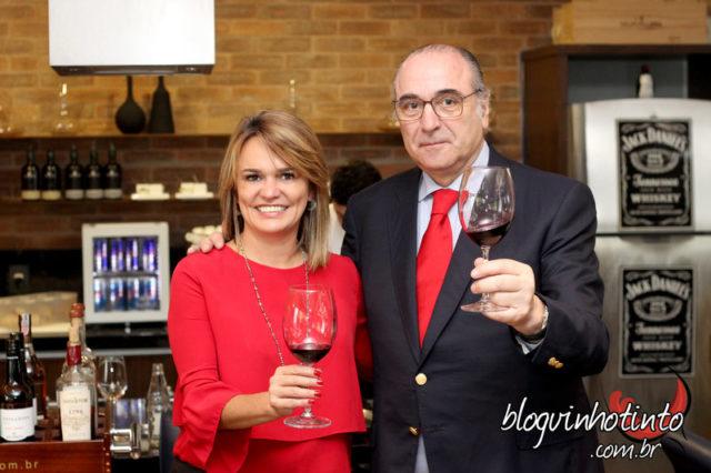 Etiene Carvalho e o produtor português José Maria Soares Franco