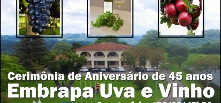 Embrapa Uva e Vinho faz 45 anos de existência